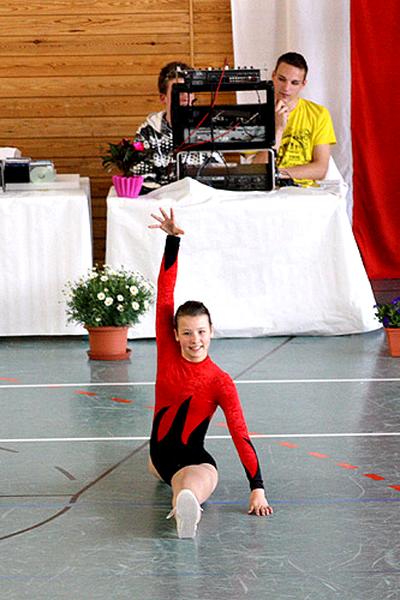 schrittkombination bei der gymnastik